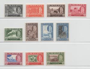 Malaya Kelantan - 1957 - SG 83-94 - MNH
