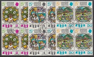 FIJI 1972 South Pacific Commission set blocks of 4 fine used................A888