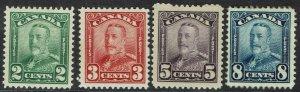CANADA 1928 KGV RANGE TO 8C