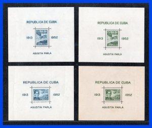 1952 - Cuba - Scott nº C 61 a - b - C 62 a - b - MNH - CU- 16 - Agustin Parla