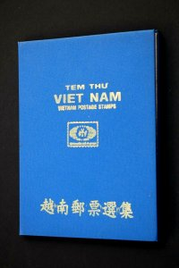Viet Nam Old Stamp Collection Lot of 50 MH & Used Authentic Vintage Stamp Album