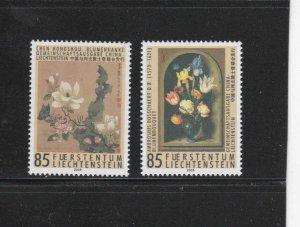 LIECHTENSTEIN #1315-1316  2005  PAINTINGS OF FLOWERS    MINT  VF NH  O.G