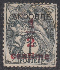 French Andorra P1 MNG CV $1.25
