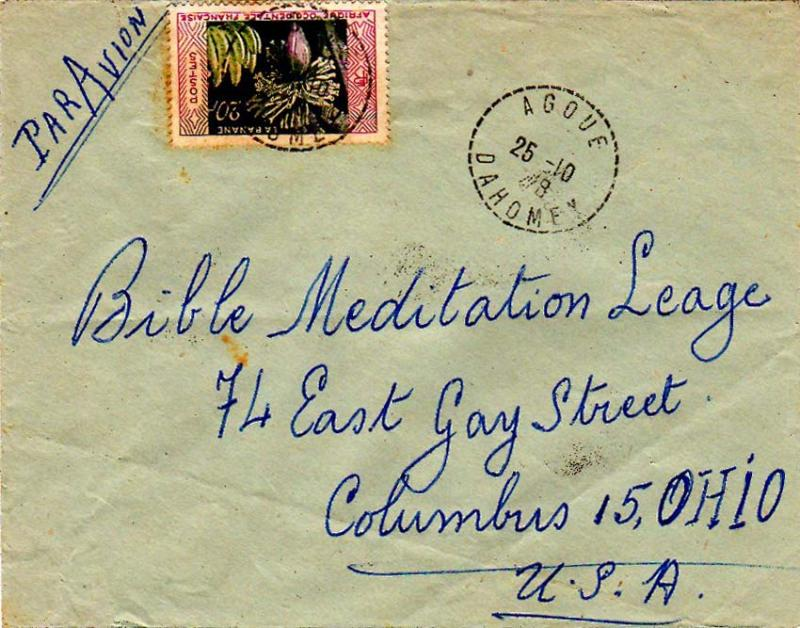 French West Africa 1958 Postal History