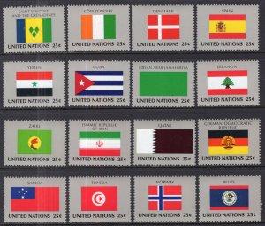 UN New York 528-543 Flags MNH VF