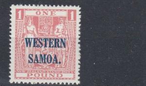 WESTERN SAMOA  1945 - 53  S G 210 £1  PINK    MH   CAT £140