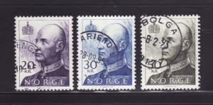 Norway 1019, 1019A, 1020 U King Harald