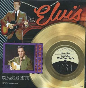 "St. Vincent - Elvis, ""Heart for Sale"" - Stamp Souvenir Sheet - SGU1304"