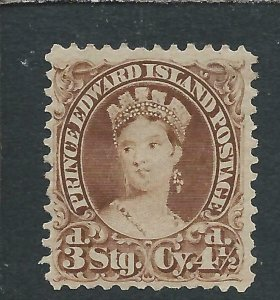 PRINCE EDWARD IS 1870 4½d DEEP BROWN MM SG 33 CAT £75