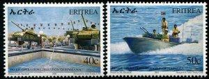 HERRICKSTAMP ERITREA Sc.# 377-78 2004 Military Mint NH