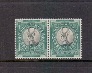South Africa 1933 MLH 1/2d. bilingual pair  15 x 14  #