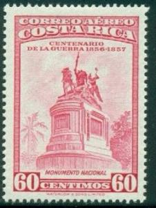 Costa Rica #C267 Air Mail Stamp 1957 60c  Used Postmarked.