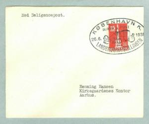 Denmark. Cover 1938. Agri. Exhibition. Special Cancel With Coach Post. 15 Ore.