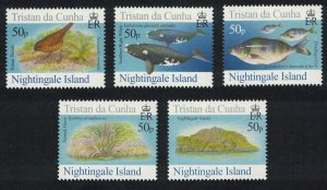 Tristan da Cunha Thrush Bird Whales Fish Nightingale Island 4th Series 5v
