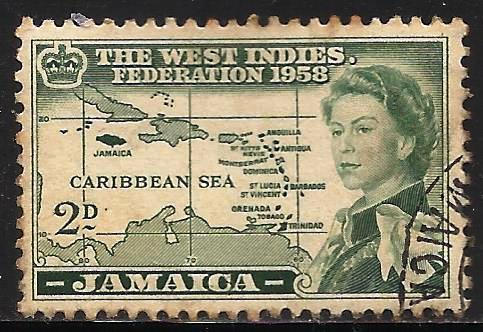 Jamaica 1958 Scott# 175 Used