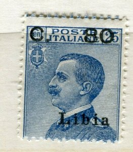 ITALY; LIBIA early 1900s Emmanuel surcharged issue used 30c. value