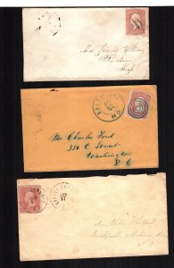 United States  65 used  3 diff covers fancy cancels