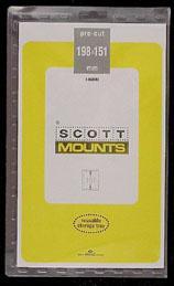 Scott Mounts Black, 198/151 mm (1 lot is a pkg 5) 00992B