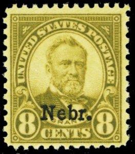 677, Mint F/VF NH 8¢ Nebraska Stamp - Stuart Katz
