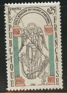 France Scott 1156 Used mont St. Michel stamp