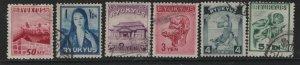 RYUKYU 8-13   USED  TILE ROOFTOP SET 1950