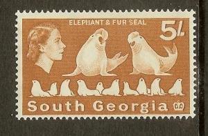 South Georgia, Scott #13, 5sh Queen Elizabeth II, MH