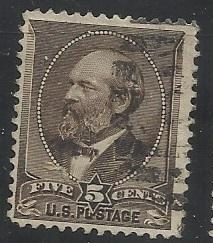 205 5c Garfield Used F/VF Centering