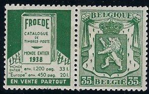 RK 103 Belgium with ad label  BIN $3.00