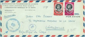 84291 - HAITI  - POSTAL HISTORY - COVER  to CONGO sent by UN United Nations 1965