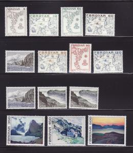 Faroe Islands 7-20 Set MHR Various (A)
