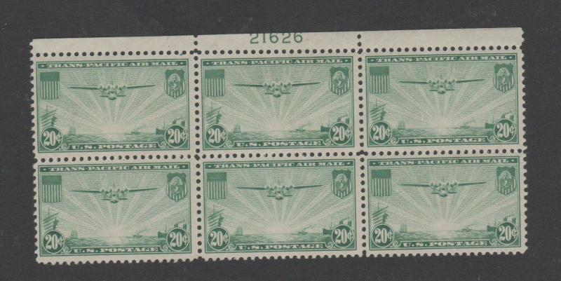 USA AIRMAIL STAMPS scott C21  NH PLBL 30 0718