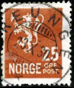 NORWAY #121, USED - 1927 - NORWAY085NS13
