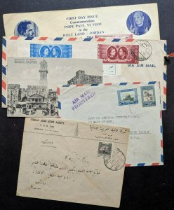 EDW1949SELL : JORDAN 4 interesting covers & 1 Picture Post card.