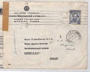WW2 ARGENTINA Buenos Aires GB London Contents Royal Empire Society 1940 XX349