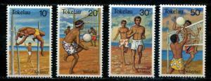 Tokekau SC# 77-80 Beach Sports set MNH