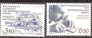 1986 United Nations Vienna Stamp Collecting  SC# 62-63 Mint