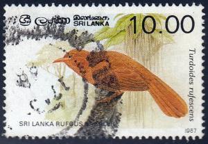 Sri Lanka #839a Rufous Babbler, used.