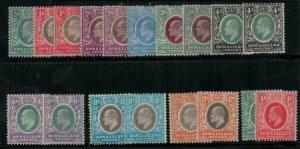 Somaliland 1905 SC 40-48,41a-48a,49-50 Mint SCV $280.00 Set
