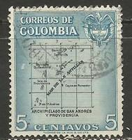 COLOMBIA 649 VFU MAP O202-1