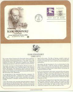 Igor Stravinsky, FDC (USHFDC1845)