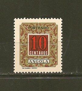 Angola J37 Postage Due Mint Hinged