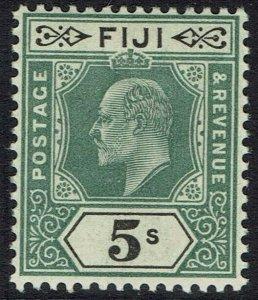 FIJI 1903 KEVII 5/- WMK CROWN CA