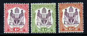 BRITISH CENTRAL AFRICA 1901 The Complete New Colours Set SG 57d to SG 58 MNH