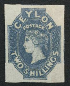 MOMEN: CEYLON SG #12 1859 IMPERF MINT OG H LOT #193171-1605