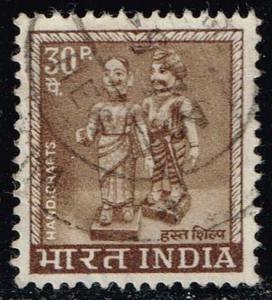 India #414 Male and Female Figurines; Used (0.25)