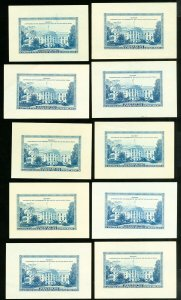 US Stamps VF Lot of 10 Philatelic Truck S/S NH