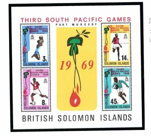 Solomon Is 201a MNH 1969 South Pacific Games S/S