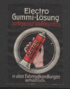 Germany- Electro-Rubber Compound to Repair Pneumatics - Advertising Stamp, NG