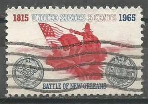 UNITED STATES, 1965, used 5c Battle of New Orleans Scott 1261