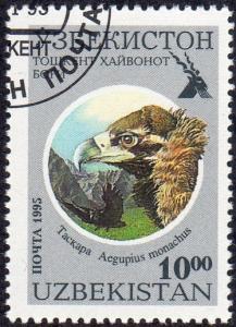 Uzbekistan 97 - Cto - 10s Cinerous Vulture (1995) (cv $1.80) (1)